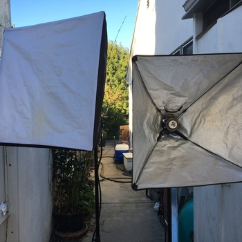 Rent Set of soft box lights for video or photo