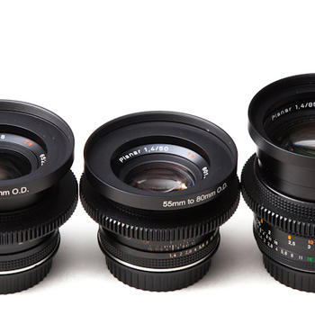 Rent Set of 6 Zeiss Contax Cinestyle Lenses (18,25,35,50,85,135mm)