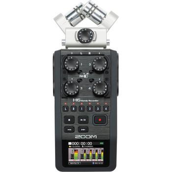 Rent Zoom H6 portable multitrack audio mixer/recorder with XLR x2 addon capsule