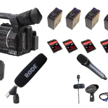 Rent TV / ENG full kit camera - Panasonic ag-ac160ej + sennheiser microphone etc