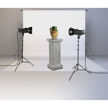 "Rent Background Portable Stand Kit + 107"" wide Paper White roll"
