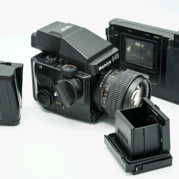 Rent Mamiya 645 Super w/waist level finder, prism finder, manual film advance, auto advance, polaroid back, and film back