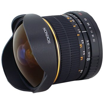 Rent Rokinon 8mm Cine Lens (Nikon mount with included EF adaptor)