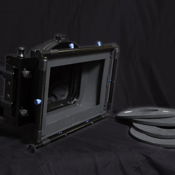 "Rent Swing Away Matte Box with three  4x5.65"" Rotating Filter Stages"