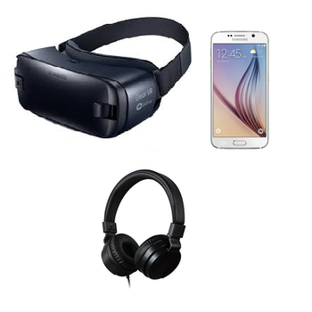 Rent Samsung Gear VR Kit w/ Galaxy S6, Headphones, Fast Charger, and Case