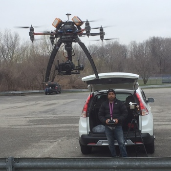 Rent SkyJib X8 Heavy Lift Drone with 3 axis stablized gimbal for ANY CAMERA and LENS