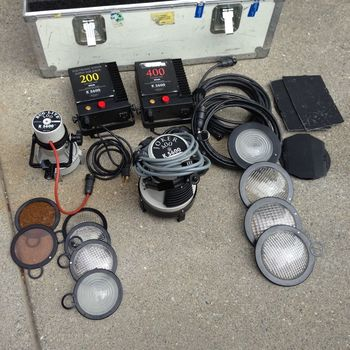 Rent HMI Joker 400/200 2 light kit with C stands