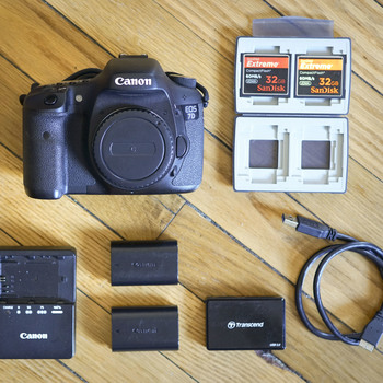 Rent Canon 7D Kit with Tascam Audio Recorder