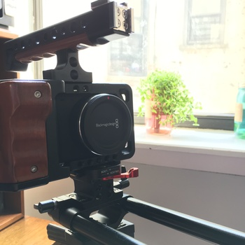 Rent Blackmagic Pocket (BMPCC) Rig with Cage, Top Handle, and 15mm Rails