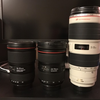 Rent Canon L Series Kit | 16-35 F4 | 24-70 II F2.8 | 70-200 II F2.8 |