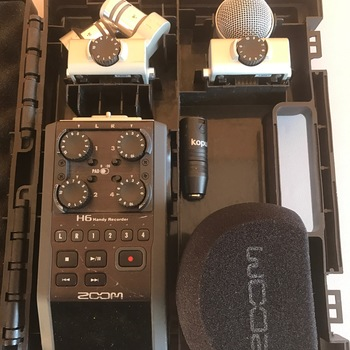 Rent Zoom H6 Portable Recorder Kit with Interchangable Microphones