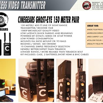 Rent Ghosteye 450 ft no latencey uncompressed wireless video pair SDI&HDMI In/Out