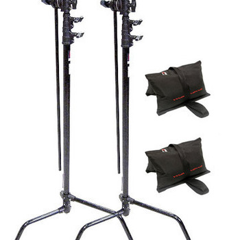 Rent 2 x C-Stands + Sandbags