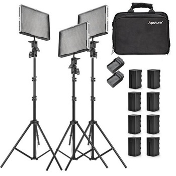 Rent 3 LED Panels Aputure Amaran (1) AL-528S & (2) AL-528W Panels