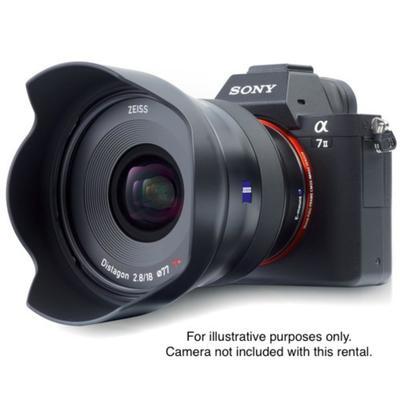 Lgzeiss batis 18mm f 2 8 lens for sony e mount on camera