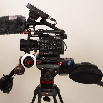 Rent Sony FS5 Full Raw Cinema Kit with 7Q+ Recorder and Shoulder Rig