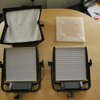Rent Basic Interview Light Kit (2 Lights, 2 Stands, Diffusers)