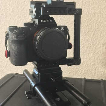 Rent Sony A7Sii with Cage, Rails, and EF Adapter