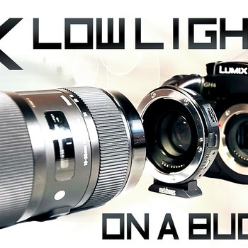 Rent GH4 + Sigma 18-35mm 1.8 + Metabones Speedbooster, Shoulder Rig, cards, batteries, and more!