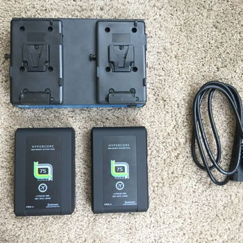 Rent Switronix V-Mount HyperCore SLIM 2-Battery Kit with Dual Charger