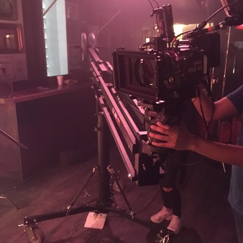 Rent Sturdy EZFX Jib on Rolling pedestal base, with weights.
