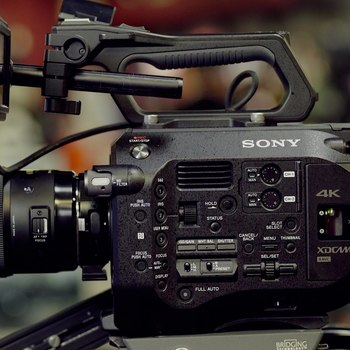 Rent Sony FS7 with Canon lenses & Zacuto Recoil rig