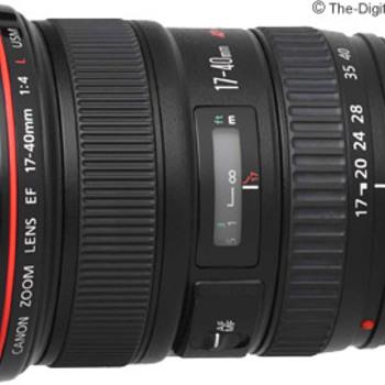 Rent Canon EF 17-40 f/4.0 L lens