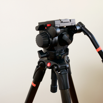Rent Manfrotto 519 Professional Fluid Video Head & MPRO 535 Carbon Fiber 2-Stage Video Tripod