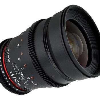 Rent Rokinon 35mm T1.5 Lens  (Canon EF Mount)
