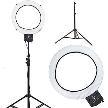 "Rent Diva Ring Light Super Nova 18"" Dimmable Photo/Video Light with 6' Light Stand"