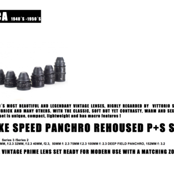 Rent Very well-kept Cooke Speed Panchro P+S Technik rehoused lens set T 2.3 (18, 25, 32, 40, 50, 75, 100, & deep field 152mm, T 3.2)