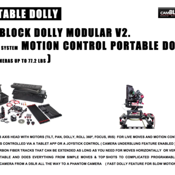 Rent Camblock Modular motion control portable dolly V2 Hot Head System (for cameras up to 77.2lbs)