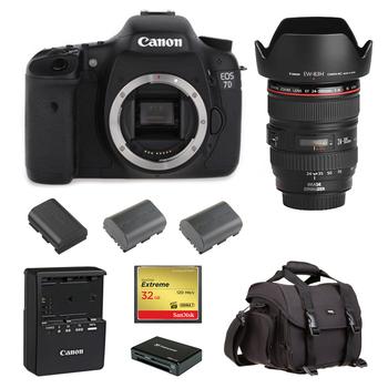 Rent Canon 7D (w/ 24-105 Lens, Batteries, Reader)