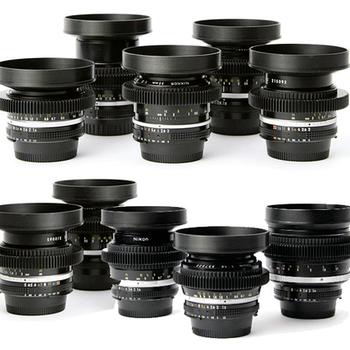 Rent Vintage Nikon AIS cine-mod EF mount prime lens kit
