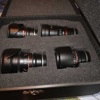 Rent Rokinon Cine DS Lens Kit ( E-Mount)  - 16mm, 35mm, 50mm, 85mm