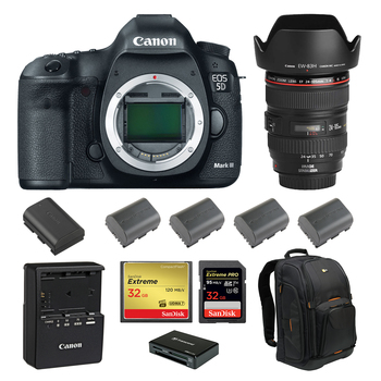 Rent Canon 5D Mark III (w/ 24-105 Lens, Batteries, Reader)