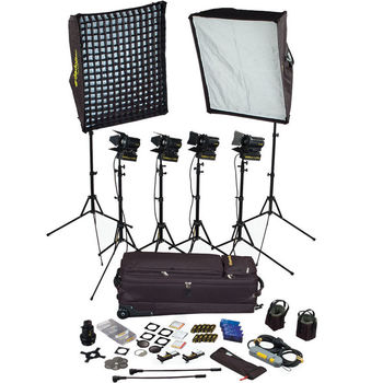 Rent Dedolight 4 Light Master Interview Kit - (2) 1000 Watt Softlights + (2) 150 watt spot/hair lights