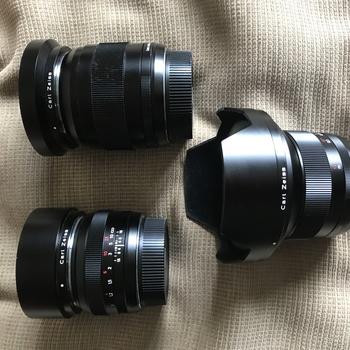 Rent Zeiss Prime Lens Set - EF Canon Mount - 18mm, 28mm, 50mm