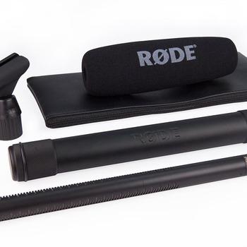 Rent Rode NTG3 Shotgun Mic, Boompole, Tascam Recorder, and Accessories