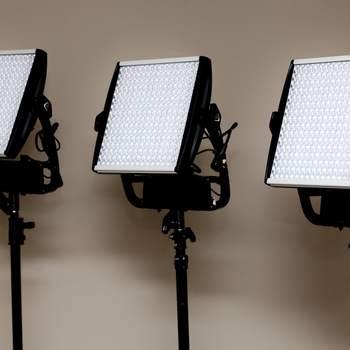 Rent (3) Astra 1x1 BiColor LED Panels w/ Optional V-Mount Battery Plate