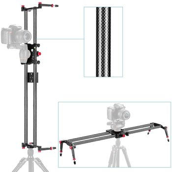 "Rent Slider - Neewer 47.2""/1.2m  Carbon Fiber Camera Trac k Dolly Slider Rail System with 17.5lbs/8kg Load Capacity"