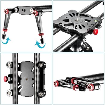 """Rent Slider - Neewer 47.2""""/1.2m  Carbon Fiber Camera Trac k Dolly Slider Rail System with 17.5lbs/8kg Load Capacity"""