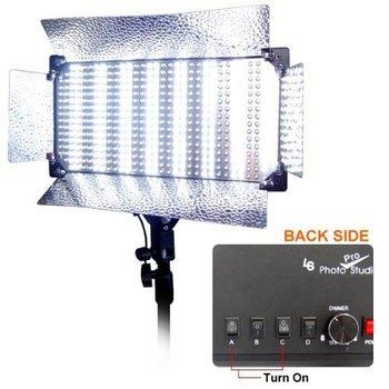 Rent 2 Pcs Dimmable 500 LED Photo Video light Panel LED lighting Kit