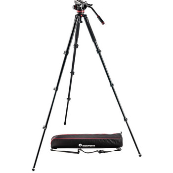 Rent Manfrotto MVK502AQ 4 Section Aluminum Tripod & Fluid Head