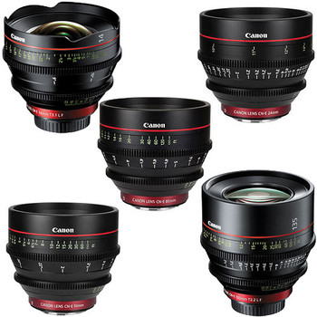 Rent Canon CN-E EF Mount Cinema Prime 5 Lens Kit