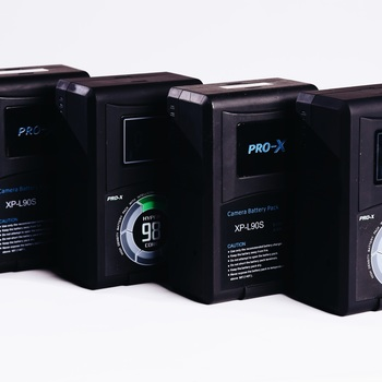 Rent 4 V-Mount Batteries with 2 Dual Chargers