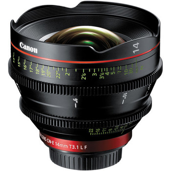 Rent Canon CN-E 14mm T3.1 L F Cinema Prime Lens (EF Mount)