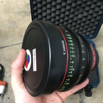 Rent Canon cine prime 50mm  f1.3 CF18""