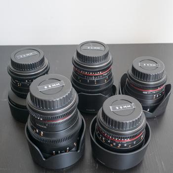 Rent Rokinon Cine Prime Lens Set (14, 25, 35, 50, 80)