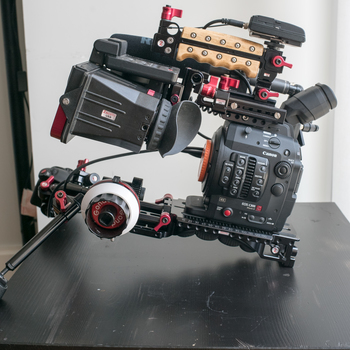 Rent C300 Mark ii package (Shoulder rig, Tripod, Shotgun Mic, Wireless Lav, Lens, Media, Pelican)